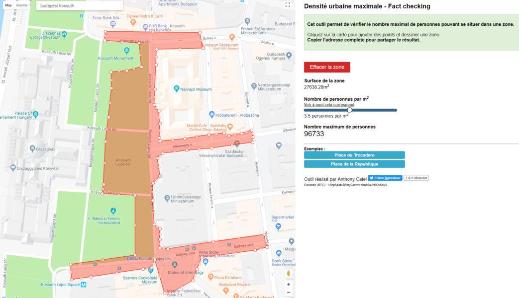 Tömegbecslés a MapCheckinggel – Kossuth tér
